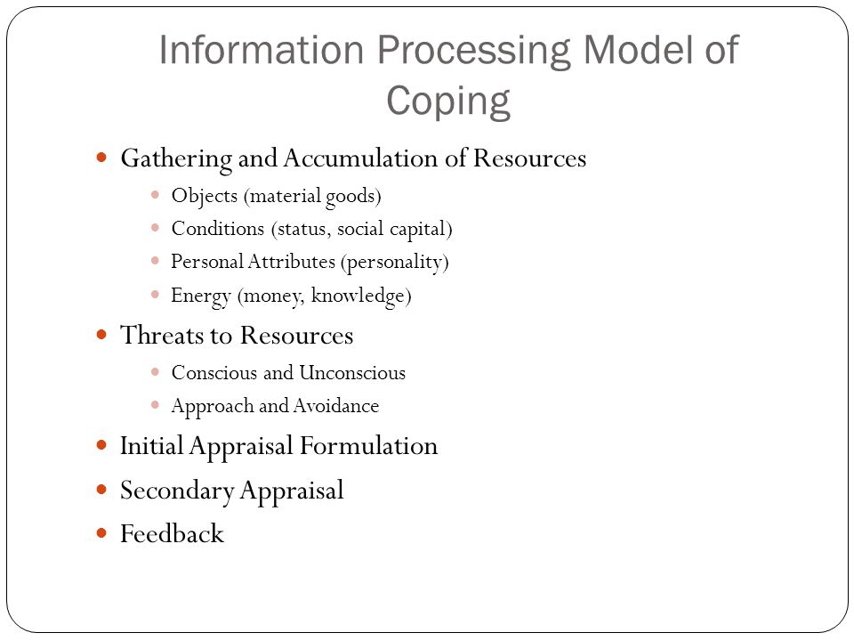 Information Processing Model of Coping