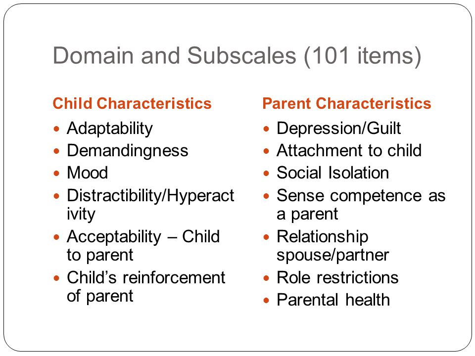 Domain and Subscales (101 items)