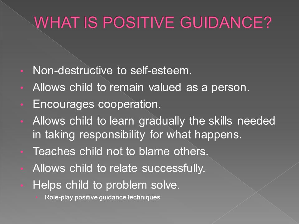 WHAT IS POSITIVE GUIDANCE