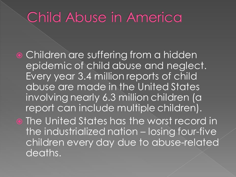 Child Abuse in America