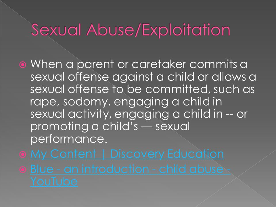 Sexual Abuse/Exploitation