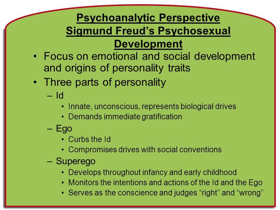 Psychoanalytic Perspective Sigmund Freud's Psychosexual Development