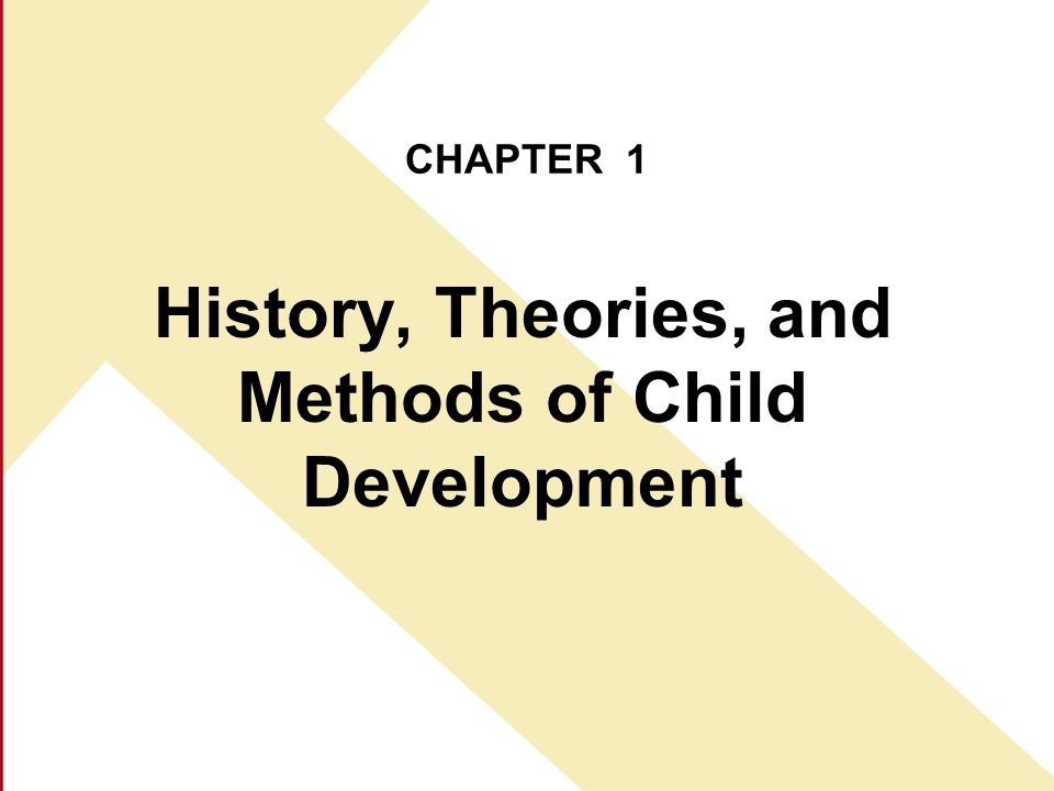 History, Theories, and Methods of Child Development