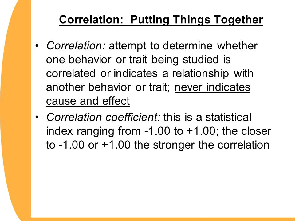 Correlation: Putting Things Together