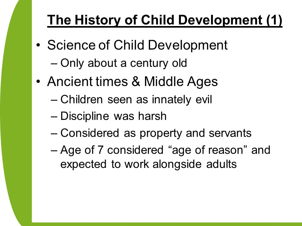 The History of Child Development (1)
