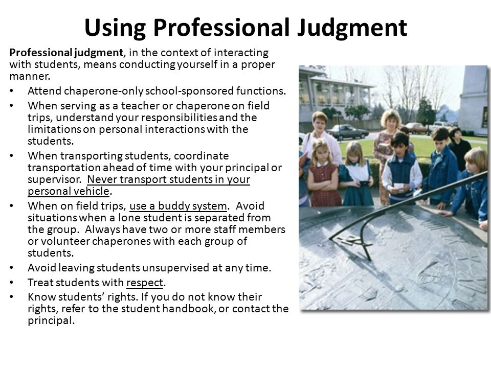 Using Professional Judgment