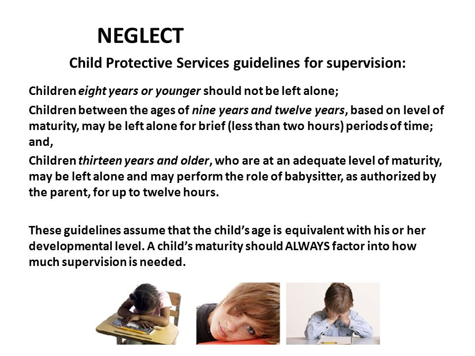 Child Protective Services guidelines for supervision: