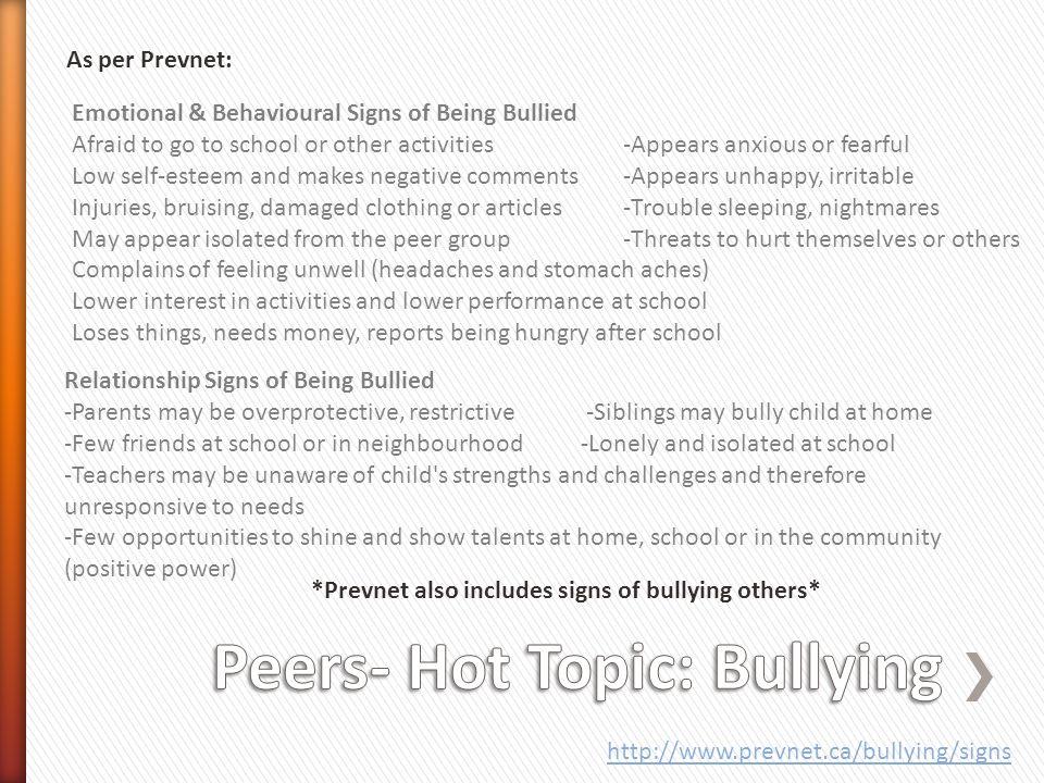 Peers- Hot Topic: Bullying