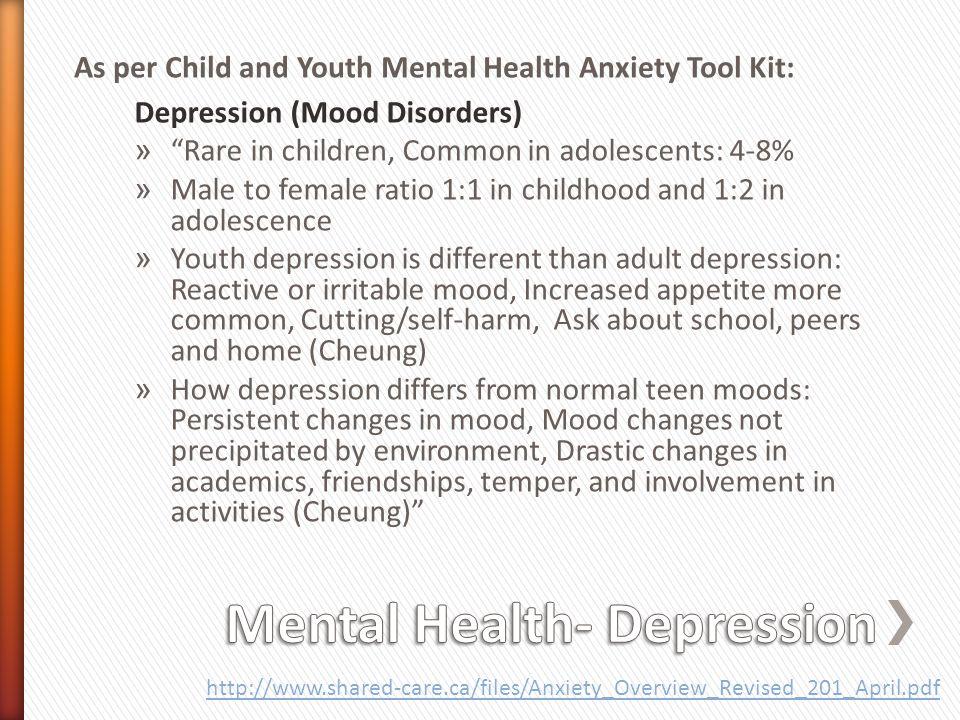 Mental Health- Depression