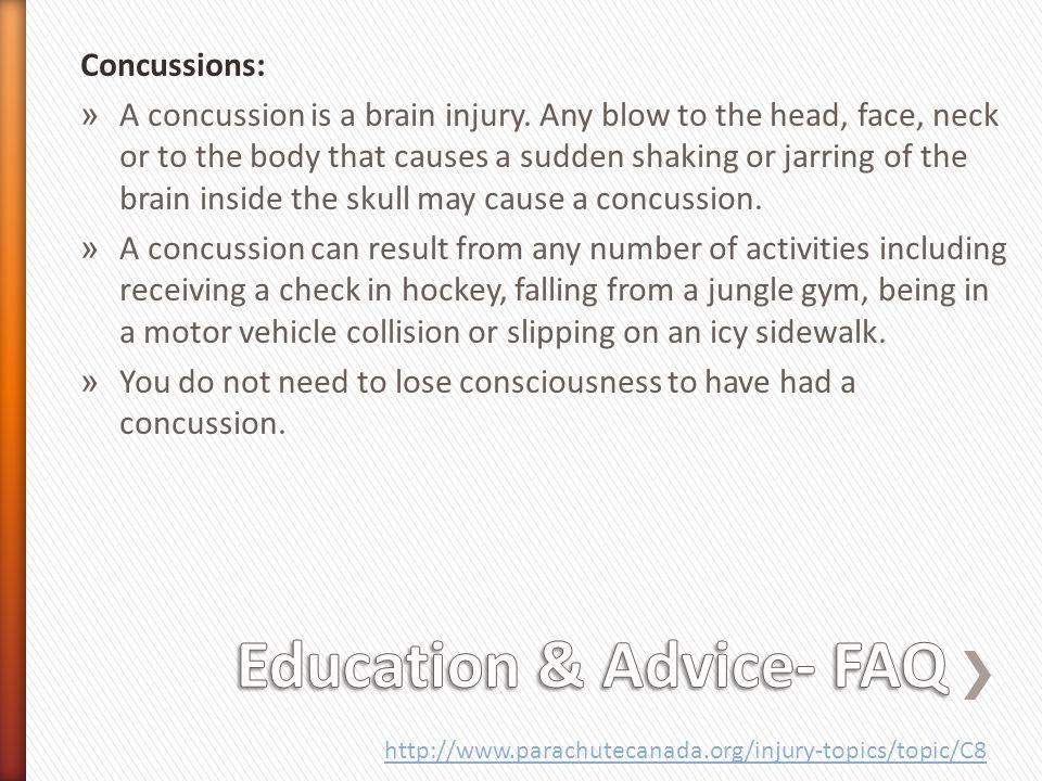 Education & Advice- FAQ
