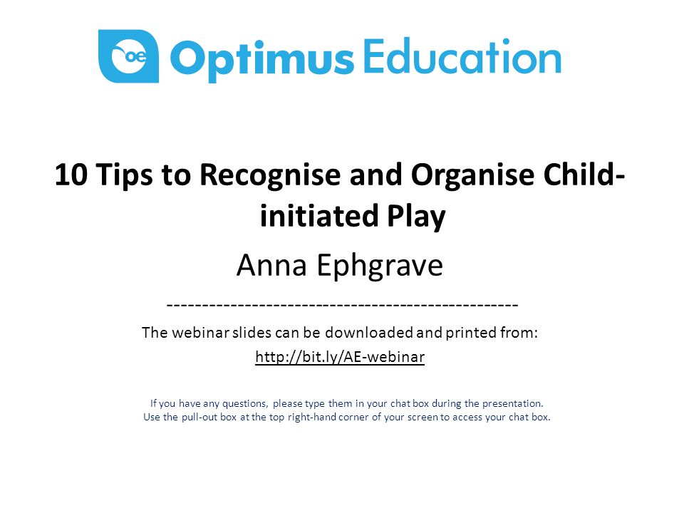 10 Tips to Recognise and Organise Child-initiated Play