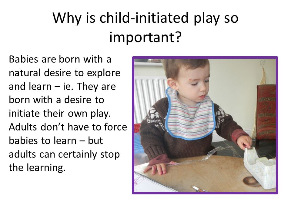 Why is child-initiated play so important