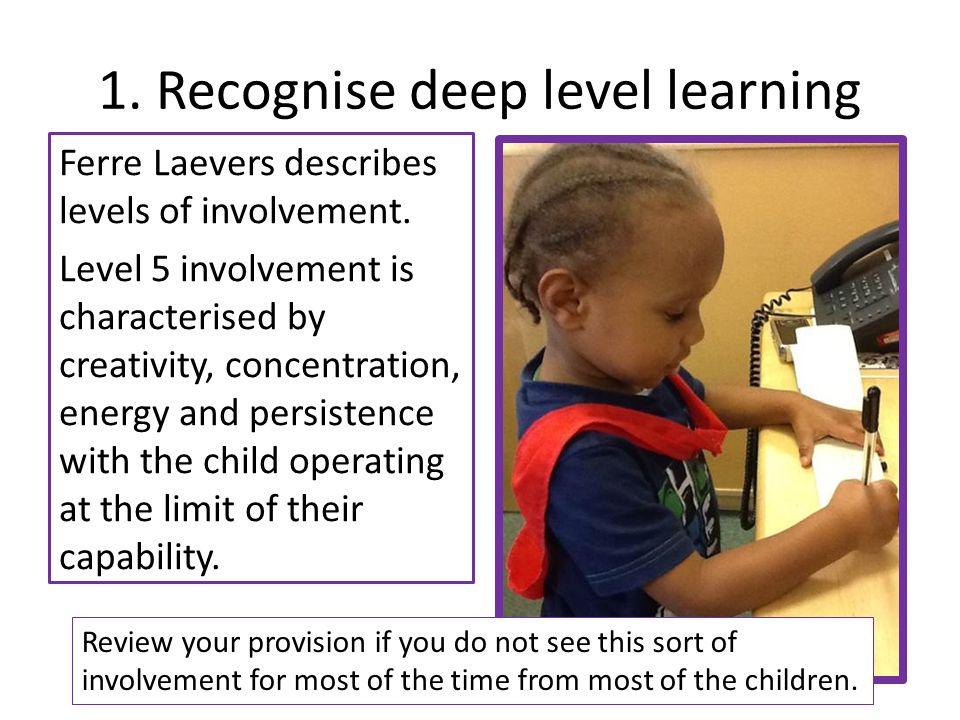 1. Recognise deep level learning