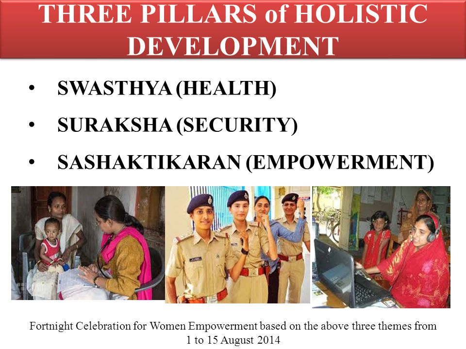 THREE PILLARS of HOLISTIC DEVELOPMENT