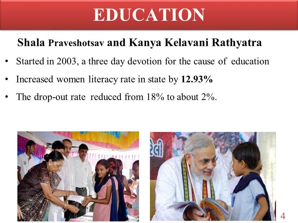 EDUCATION Shala Praveshotsav and Kanya Kelavani Rathyatra
