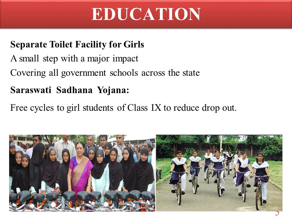 EDUCATION Separate Toilet Facility for Girls