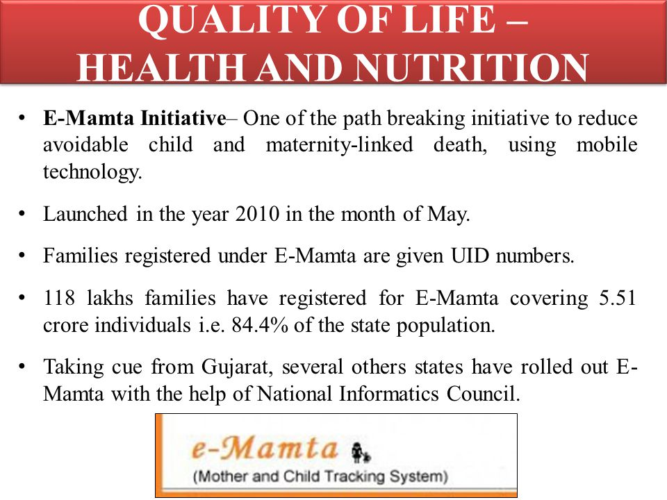 QUALITY OF LIFE – HEALTH AND NUTRITION