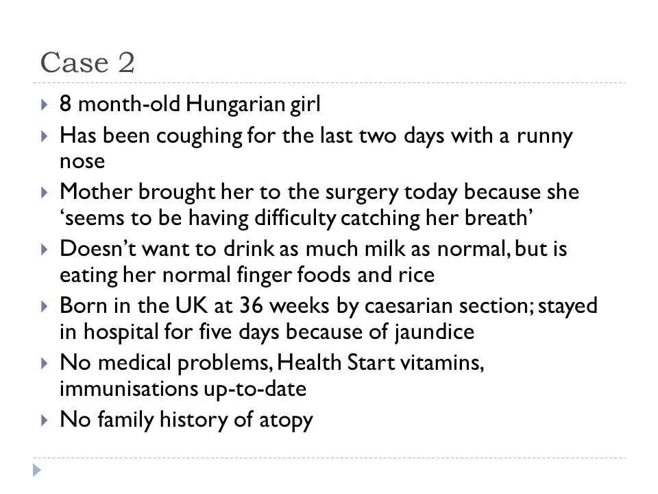 Case 2 8 month-old Hungarian girl