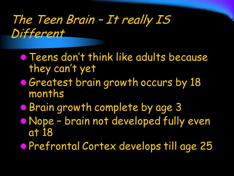 The Teen Brain – It really IS Different