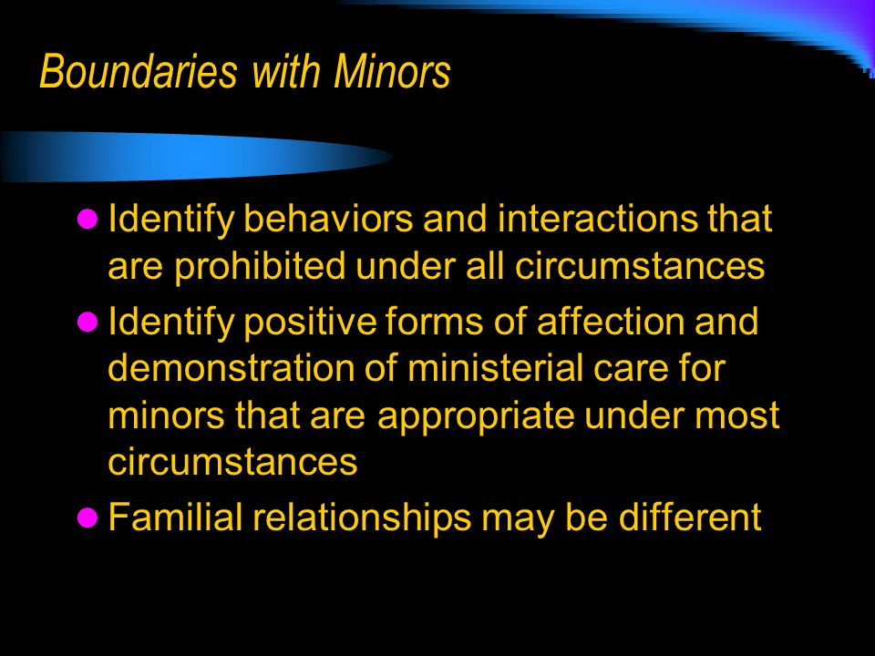 Boundaries with Minors