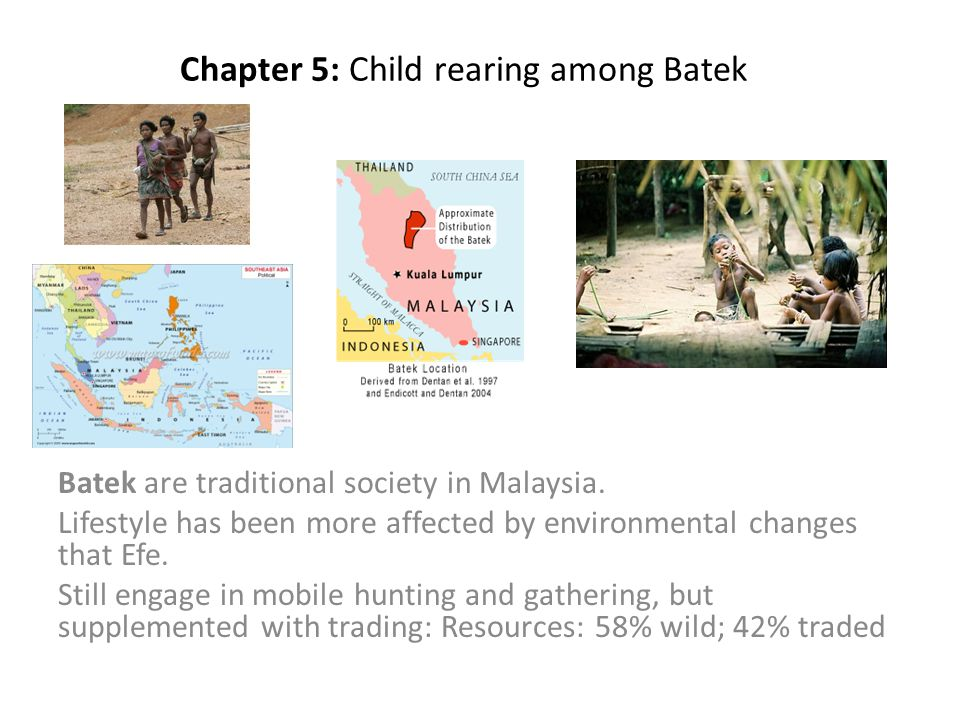 Chapter 5: Child rearing among Batek