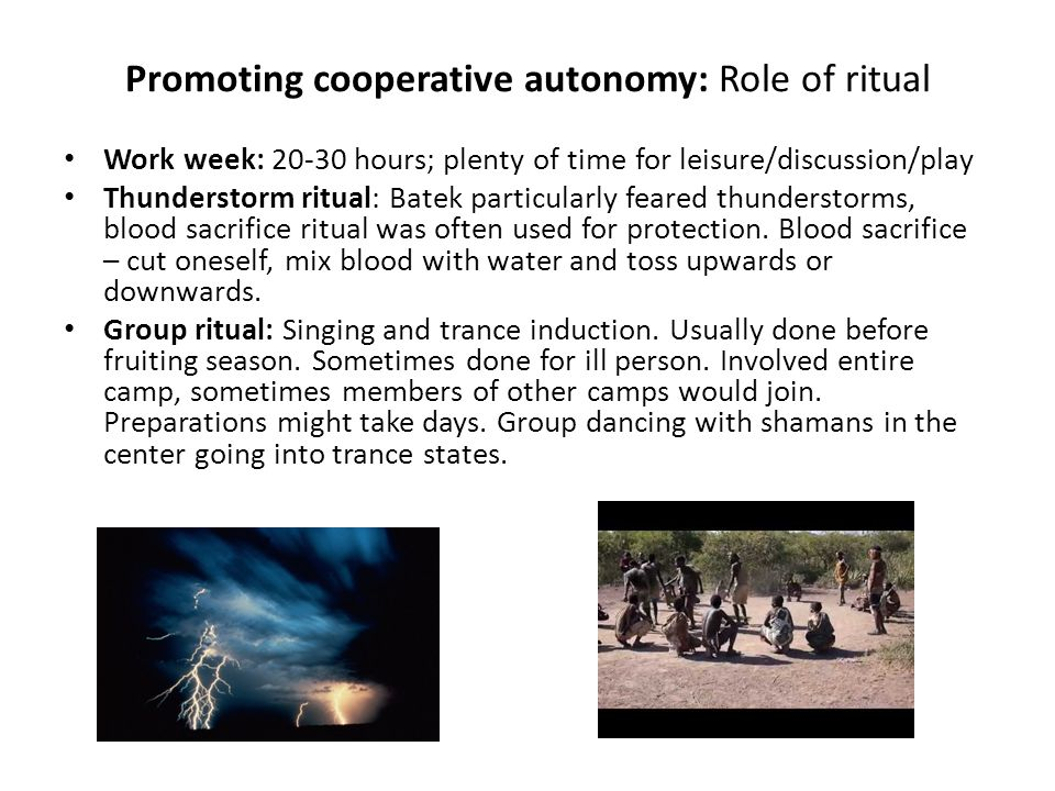 Promoting cooperative autonomy: Role of ritual