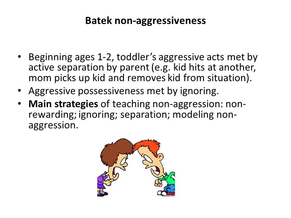 Batek non-aggressiveness