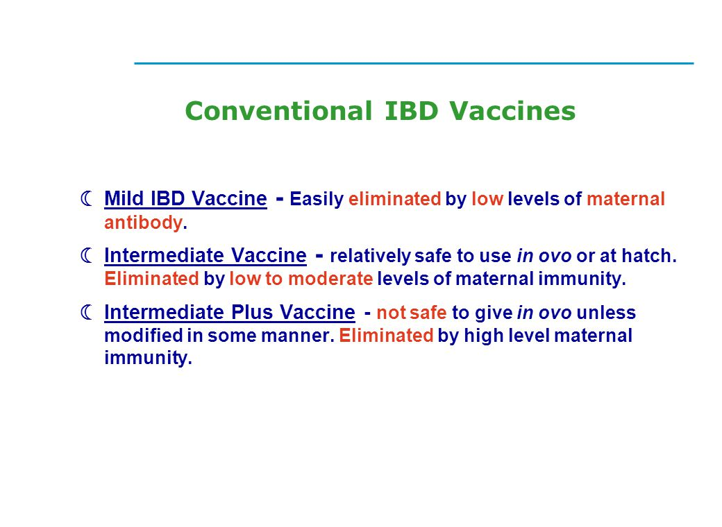 Conventional IBD Vaccines