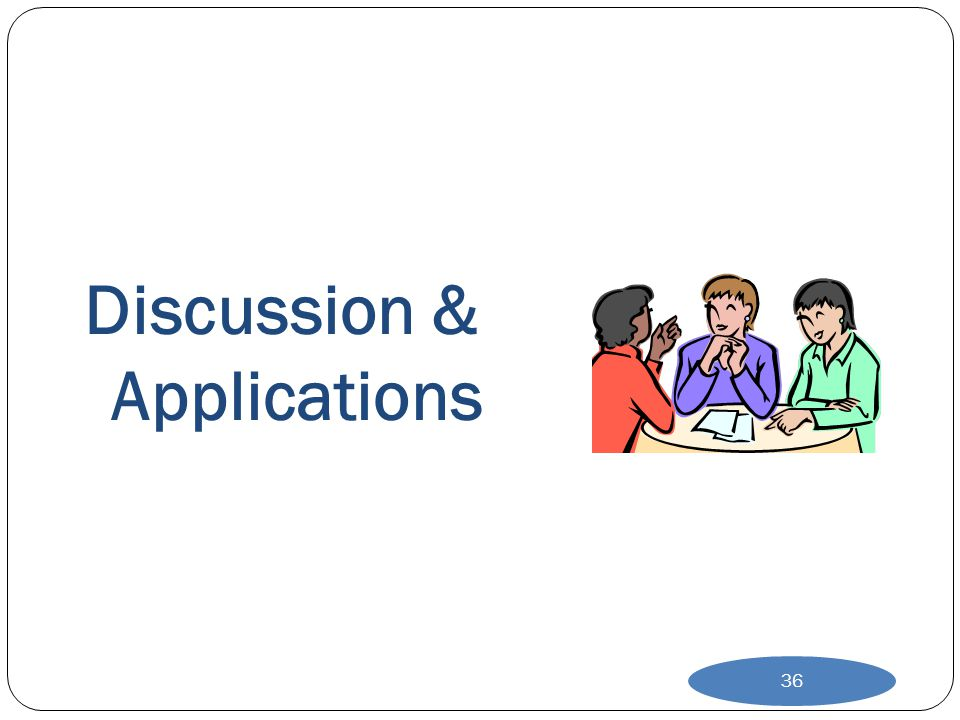 Discussion & Applications