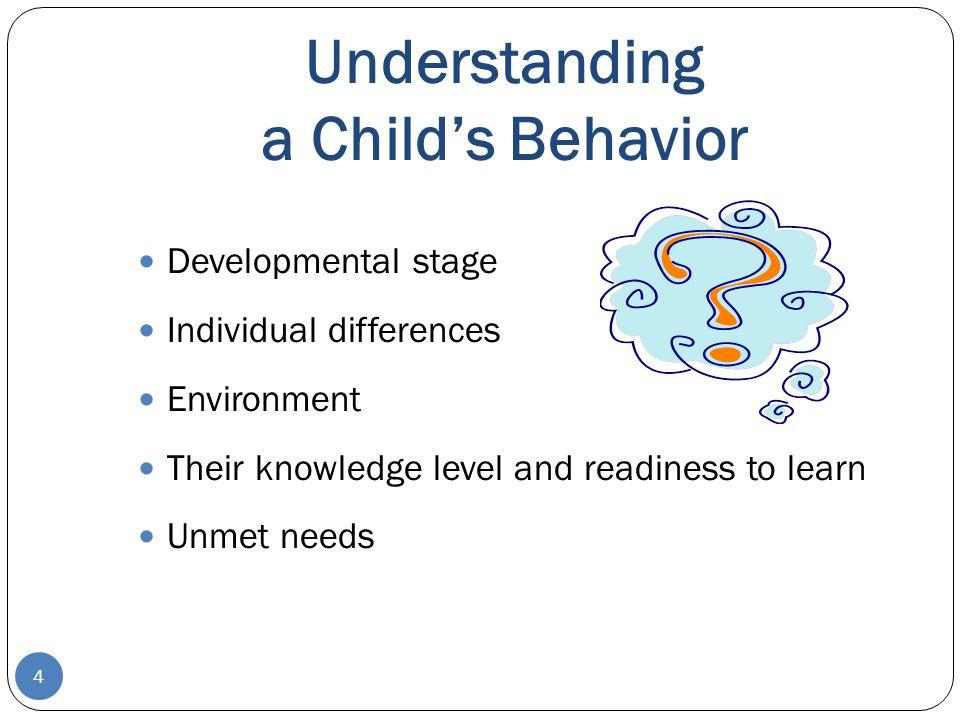 Understanding a Child's Behavior