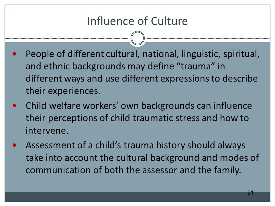 Influence of Culture