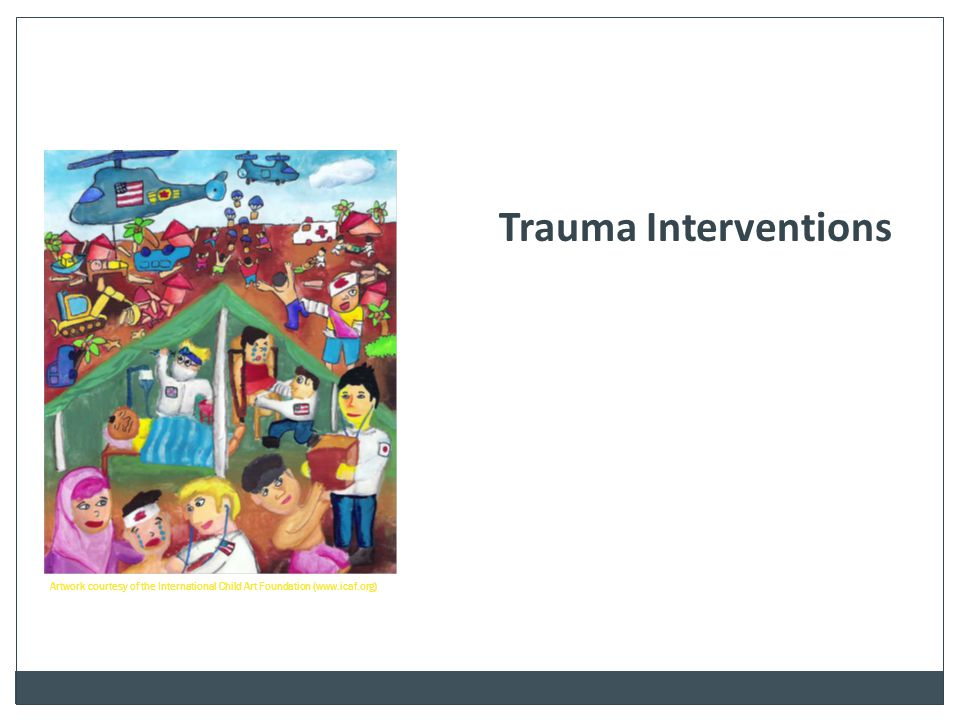 Trauma Interventions One of the hand-outs  ed to you provides a good definition of trauma specific interventions.