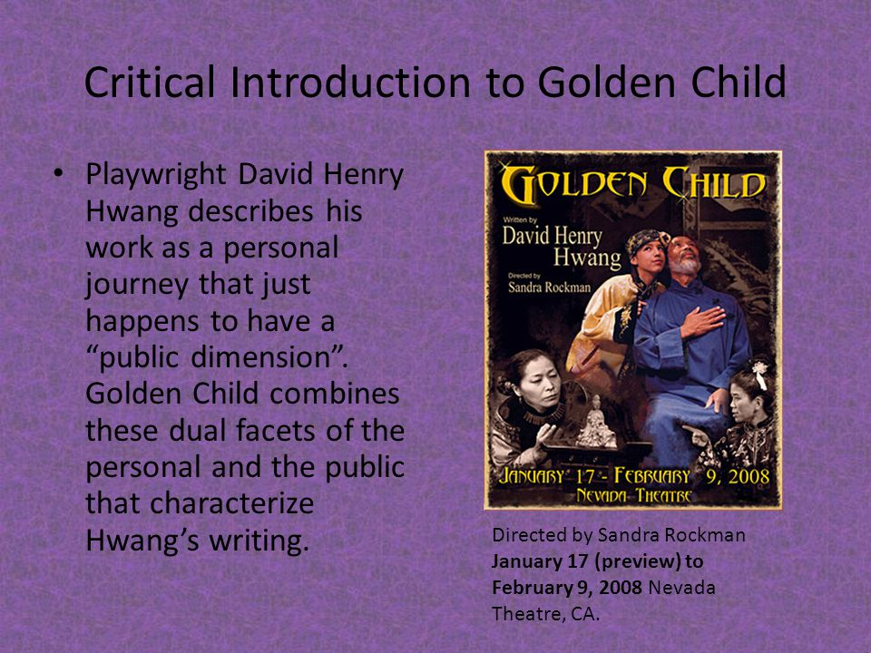 Critical Introduction to Golden Child