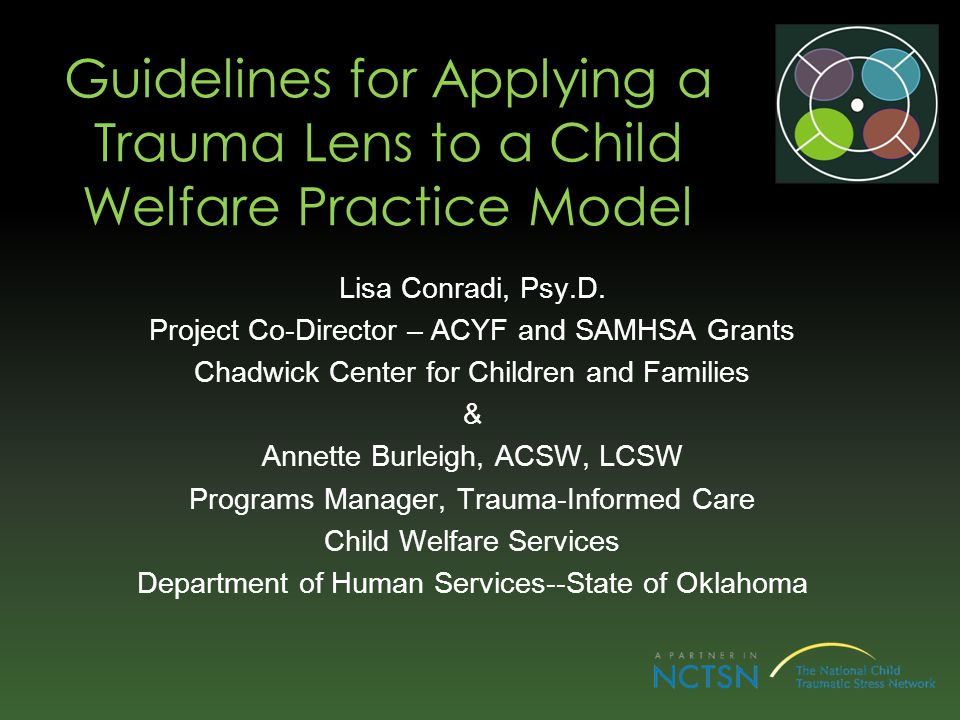 Guidelines for Applying a Trauma Lens to a Child Welfare Practice Model