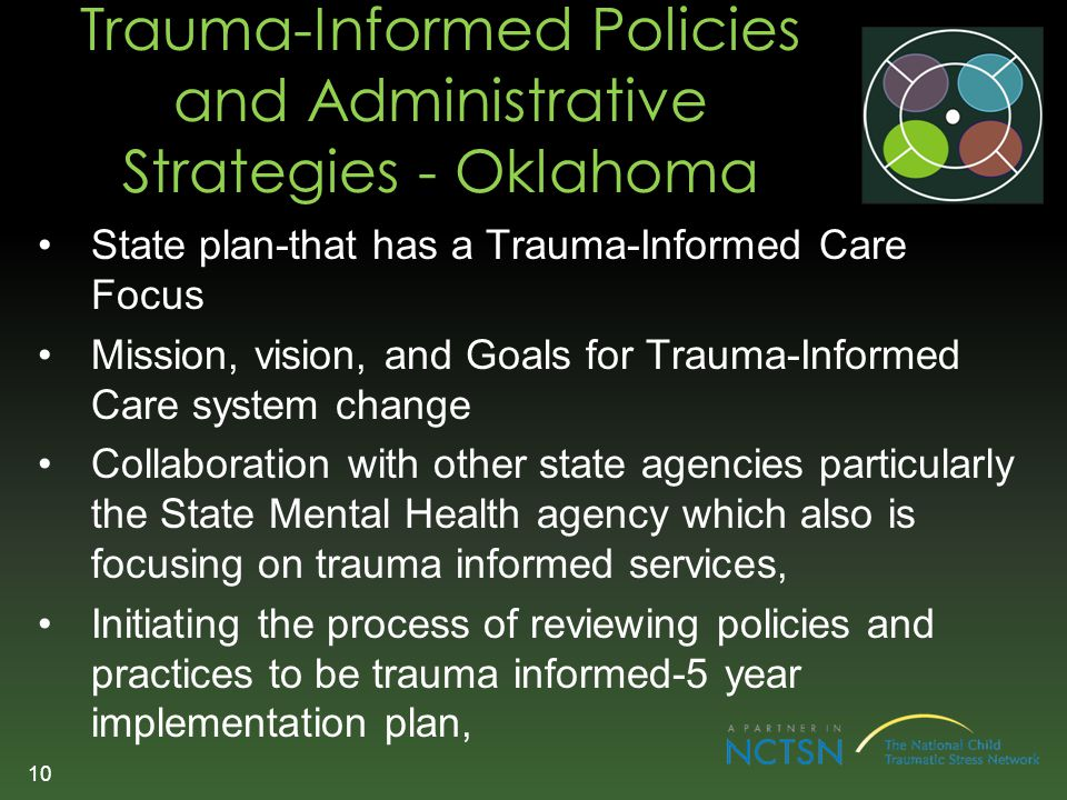 Trauma-Informed Policies and Administrative Strategies - Oklahoma
