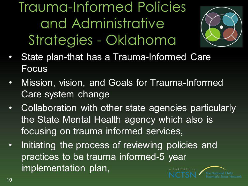 Trauma-Informed Policies and Administrative Strategies - Oklahoma