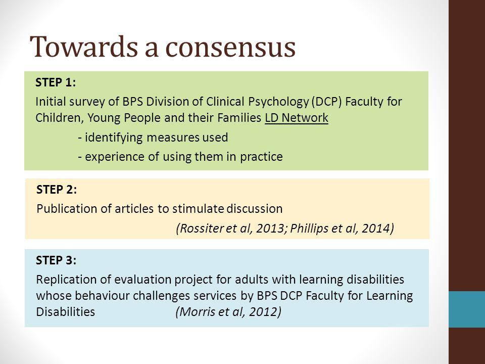 Towards a consensus
