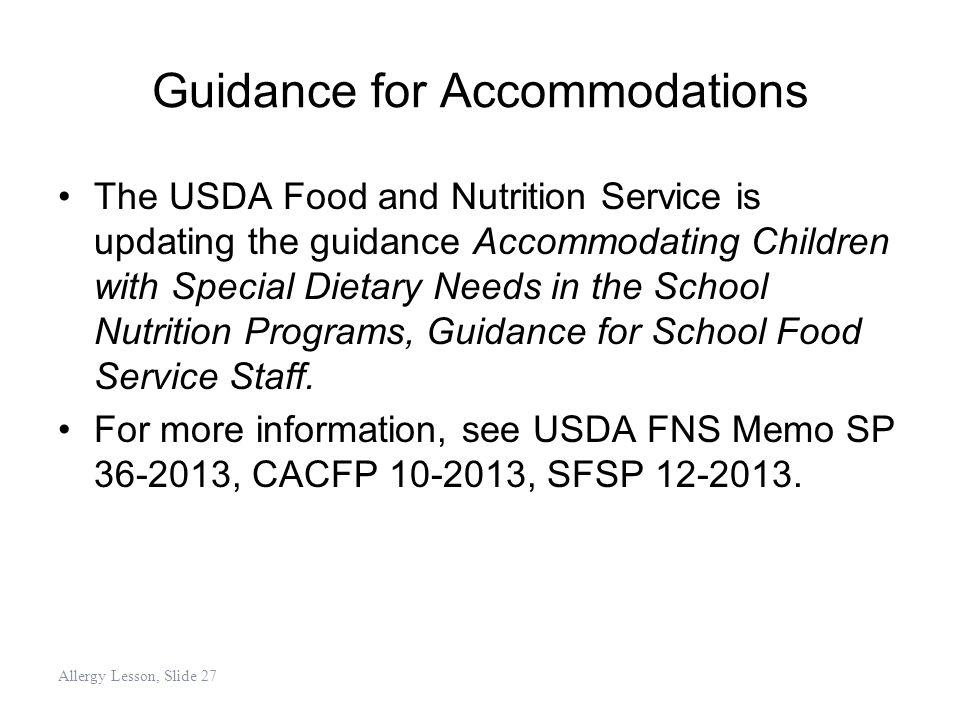 Guidance for Accommodations