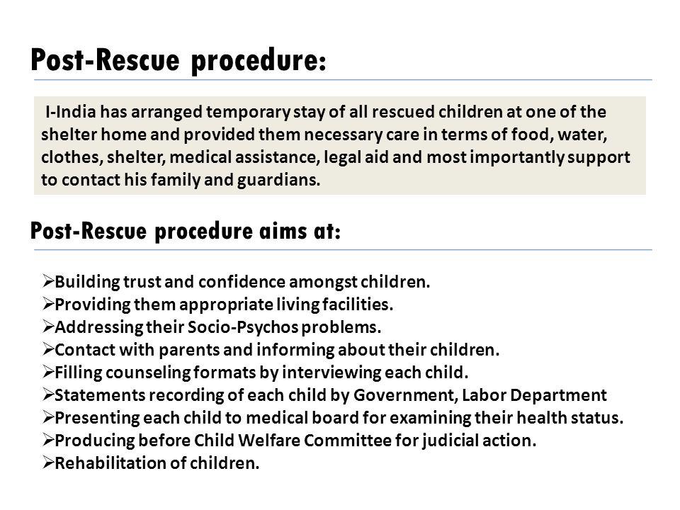 Post-Rescue procedure: