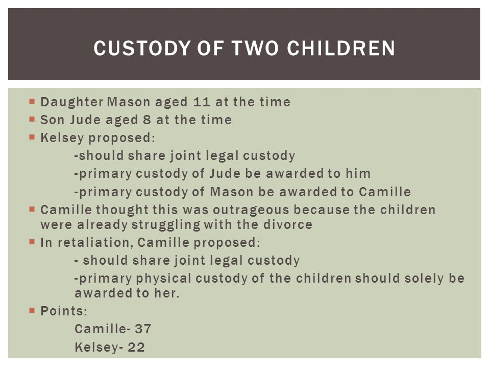 Custody of two children