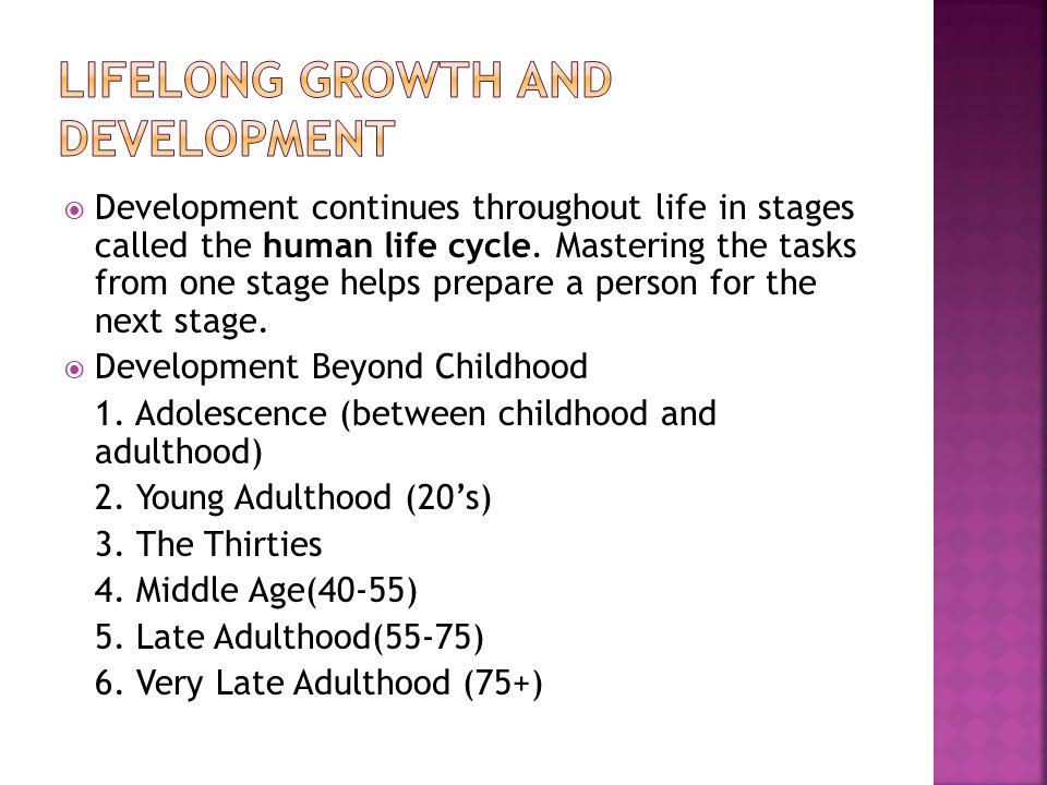 Lifelong Growth and Development