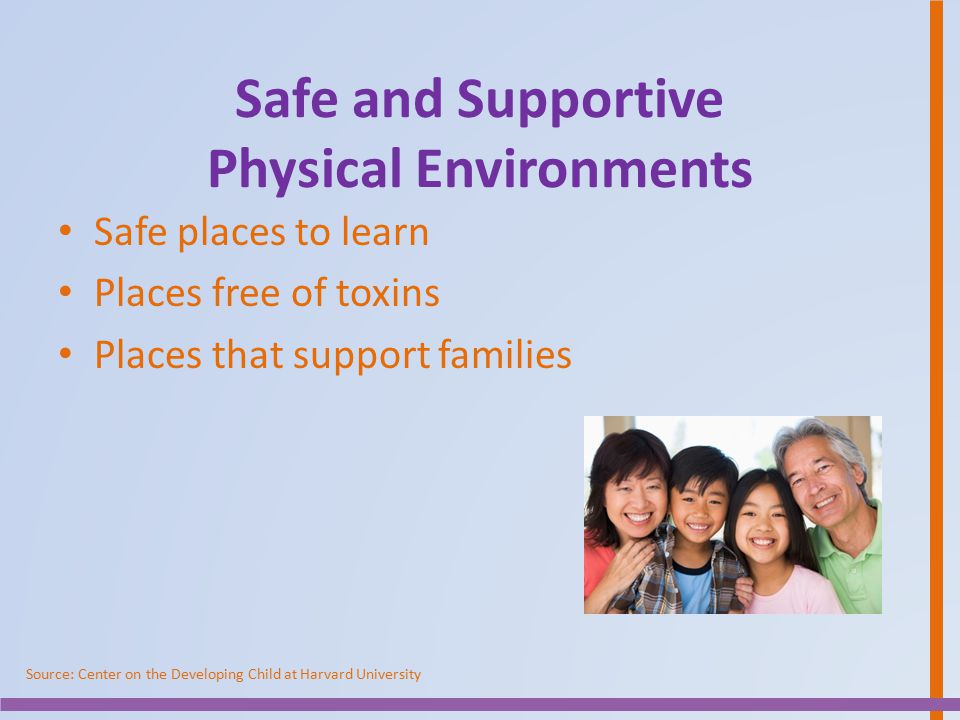 Safe and Supportive Physical Environments