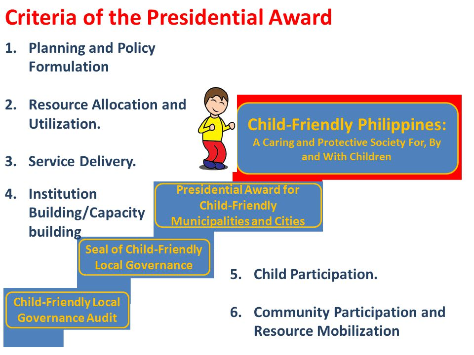 Criteria of the Presidential Award