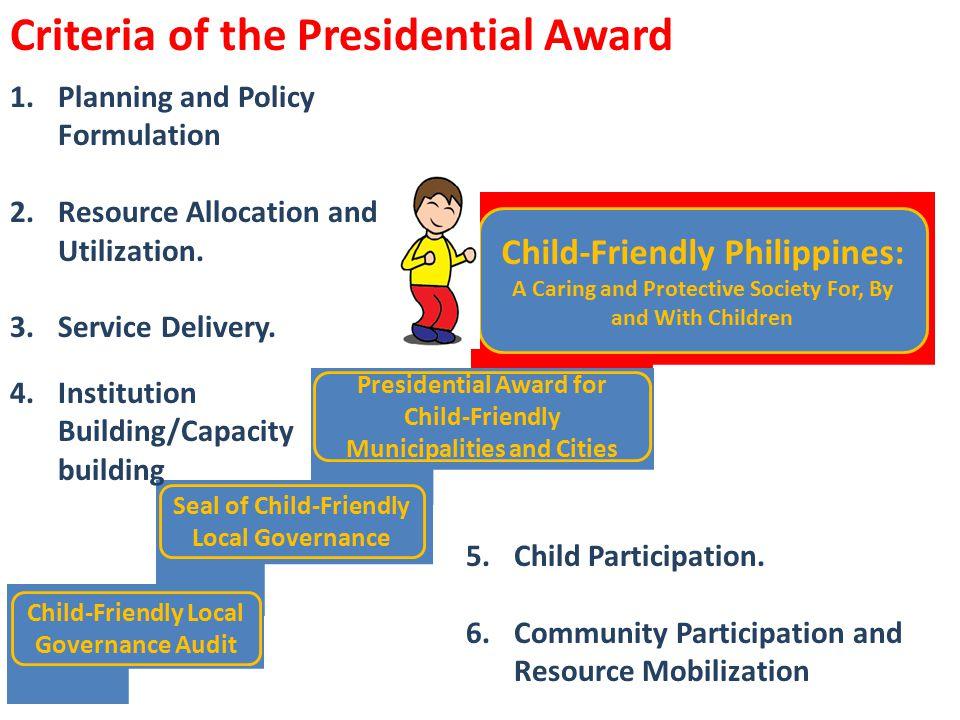 Criteria of the Presidential Award