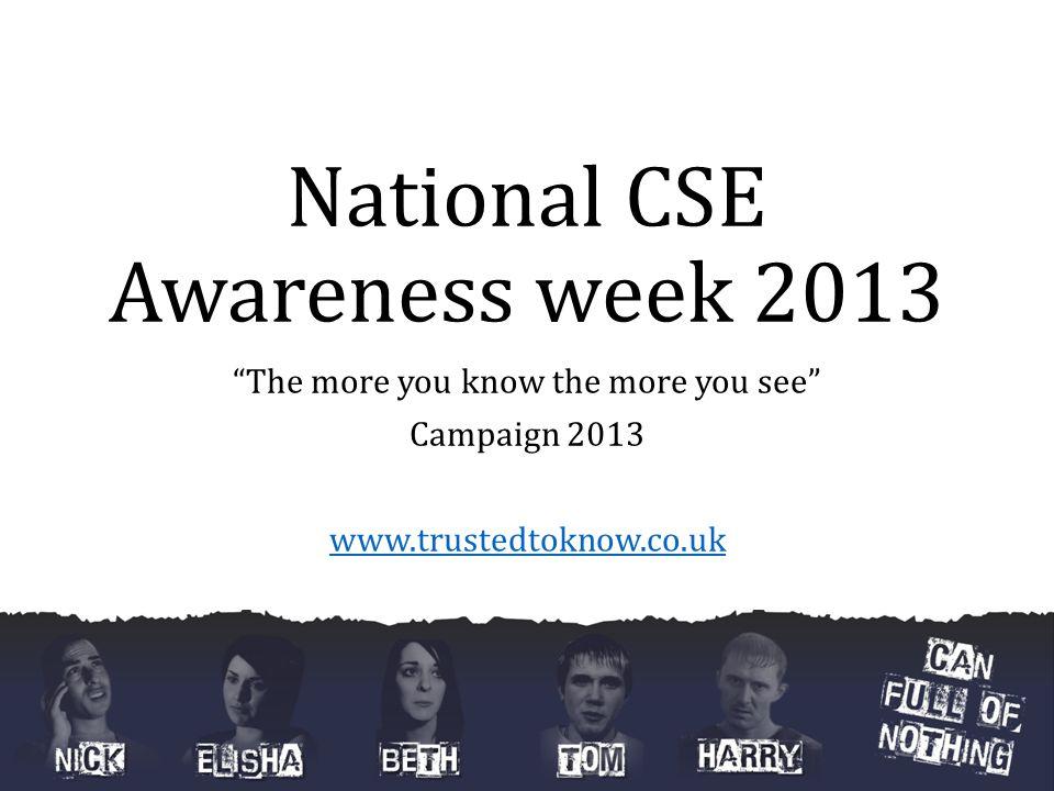 National CSE Awareness week 2013