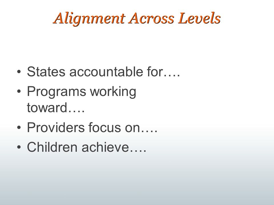 Alignment Across Levels