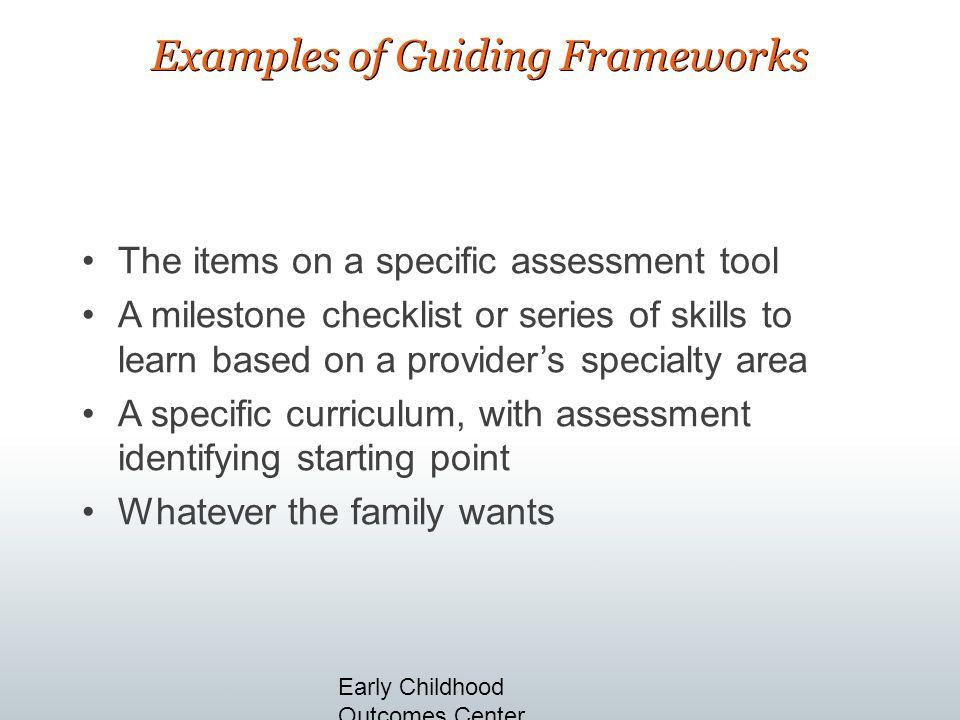 Examples of Guiding Frameworks