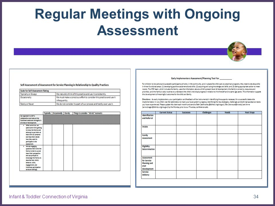 Regular Meetings with Ongoing Assessment