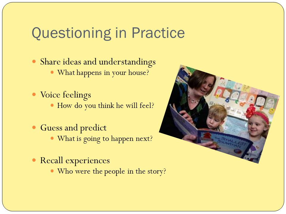 Questioning in Practice