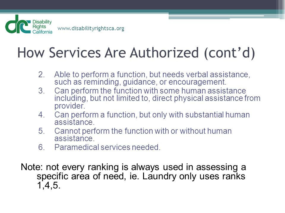 How Services Are Authorized (cont'd)